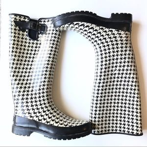 Sperry Top-Sider Houndstooth Rain Boots